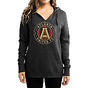 Majestic Women's Atlanta United Logo Black Pullover Hoodie