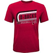 Majestic Youth Arizona Diamondbacks Tri-Blend Curveball Red T-Shirt