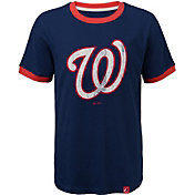 Majestic Youth Washington Nationals Ringer Navy T-Shirt