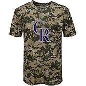 Majestic Youth Colorado Rockies Cool Base Digi Camo Performance T-Shirt