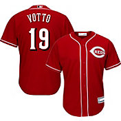 Majestic Youth Replica Cincinnati Reds Joey Votto #19 Cool Base Alternate Red Jersey