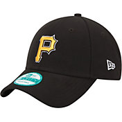 New Era Men's Pittsburgh Pirates 9Forty Black Adjustable Hat