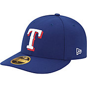 New Era Men's Texas Rangers 59Fifty Game Royal Low Crown Authentic Hat