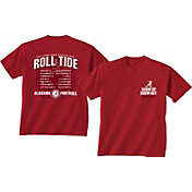New World Graphics Men's Alabama Crimson Tide Crimson 2017 Football Schedule T-Shirt