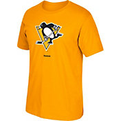 Reebok Men's Pittsburgh Penguins Logo Gold T-Shirt
