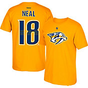 Reebok Men's Nashville Predators James Neal #18 Gold Player T-Shirt