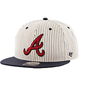 '47 Men's Atlanta Braves Woodside Captain Pinstripe Adjustable Hat