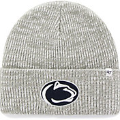 '47 Men's Penn State Nittany Lions Heathered Grey Brain Freeze Cuffed Knit
