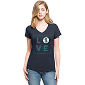 '47 Women's Seattle Mariners Club Navy V-Neck T-Shirt