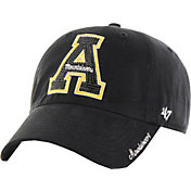 '47 Women's Appalachian State Mountaineers Black Sparkle Clean-Up Adjustable Hat