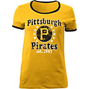 5th & Ocean Women's Pittsburgh Pirates Gold T-Shirt