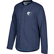 adidas Men's Memphis Grizzlies On-Court Navy Button Down Jacket