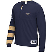 adidas Men's New Orleans Pelicans On-Court Navy Long Sleeve Shooting Shirt