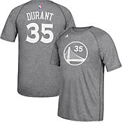 adidas Men's Golden State Warriors Kevin Durant #35 climalite Grey T-Shirt