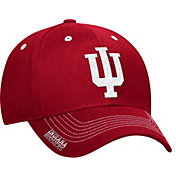 adidas Men's Indiana Hoosiers Crimson Sideline Coaches Structured Flex-Fitted Hat