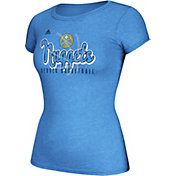 adidas Women's Denver Nuggets Script Logo Light Blue T-Shirt