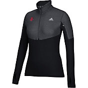 adidas Women's Houston Rockets Black Half-Zip Pullover
