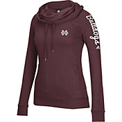 adidas Women's Mississippi State Bulldogs Maroon Tunnel Neck Long Sleeve Shirt