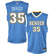 adidas Youth Denver Nuggets Kenneth Faried #35 Light Blue Replica Jersey