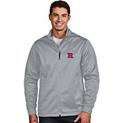Antigua Men's Rutgers Scarlet Knights Silver Performance Golf Jacket
