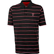 Antigua Men's Texas Tech Red Raiders Deluxe Performance Black Polo