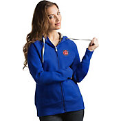 Antigua Women's Chicago Cubs Royal Victory Full-Zip Hoodie