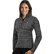 Antigua Women's Los Angeles Angels Grey Fortune Half-Zip Pullover