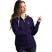 Antigua Women's Colorado Rockies Purple Victory Full-Zip Hoodie