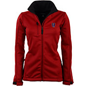 Antigua Women's Real Salt Lake Traverse Red Soft-Shell Full-Zip Jacket