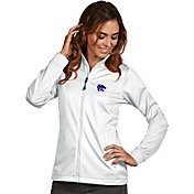 Antigua Women's Kansas State Wildcats White Performance Golf Jacket