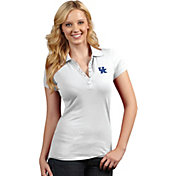 Antigua Women's Kentucky Wildcats White Spark Polo
