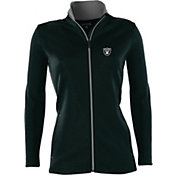Antigua Women's Oakland Raiders Leader Black Full-Zip Jacket