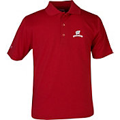 Antigua Youth Wisconsin Badgers Red X-tra Lite Pique Polo