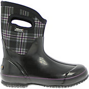 "BOGS Women's Classic Mid Plaid 9"" Insulated Waterproof Rain Boots"