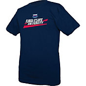 boxercraft Men's Florida Atlantic Owls Blue Just for You Crew Wordmark and Logo T-Shirt