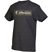 boxercraft Youth Cal Poly Mustangs Grey Just for You Crew Wordmark and Logo T-Shirt