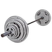 Body Solid 300 lb Cast Grip Olympic Weight Set with Black Bar