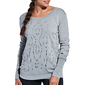 CALIA by Carrie Underwood Women's Open Work Cross Back Sweater