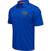 Colosseum Athletics Men's Florida Gators Blue Heathered Performance Polo