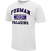 Colosseum Men's Furman Paladins White Dual Blend T-Shirt