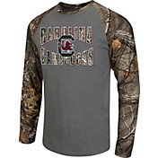 Colosseum Athletics Men's South Carolina Gamecocks Grey/Camo Break Action Long Sleeve Shirt