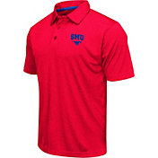Colosseum Men's Southern Methodist Mustangs Red Heathered Performance Polo
