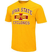 Colosseum Athletics Men's Iowa State Cyclones Gold Dual-Blend T-Shirt