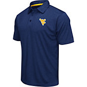 Colosseum Athletics Men's West Virginia Mountaineers Blue Heathered Performance Polo