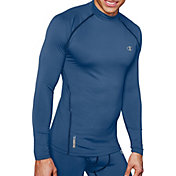 Champion Men's Gear Cold Weather Compression Mock Neck Long Sleeve Shirt