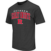Colosseum Athletics Men's Rutgers Scarlet Knights Grey Dual-Blend T-Shirt