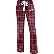 Concepts Sport Women's Virginia Tech Hokies Maroon/Burnt Orange Captivate Plaid Sleep Pants