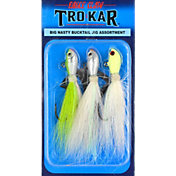 Eagle Claw TroKar Big Nasty Bucktail Jig - 3 Pack
