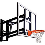 "Goalsetter 72"" Adjustable Glass Backboard and Collegiate Rim"