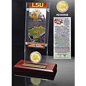 The Highland Mint LSU Tigers 3x National Champions Ticket and Coin Display